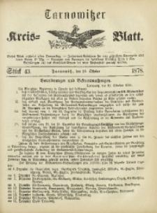 Tarnowitzer Kreis-Blatt, 1878, Stück 43