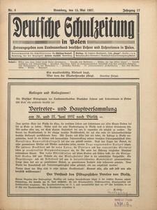 Deutsche Schulzeitung in Polen, 1936/1937, Jg. 13, Nr. 8