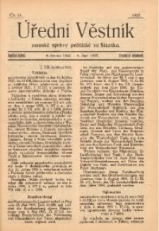 Úřední Věstník Zemské Správy Politické ve Slezsku, 1927, Čís. 24