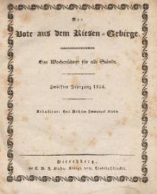 Der Bote aus dem Riesen-Gebirge, 1824, Jg. 12, No. 1