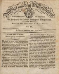 Der Bote aus dem Riesen-Gebirge, 1829, Jg. 17, No. 14