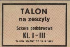 Talon na zeszyty : szkoła podstawowa klasa I-III.