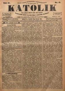 Katolik, 1904, R. 37, nr 12