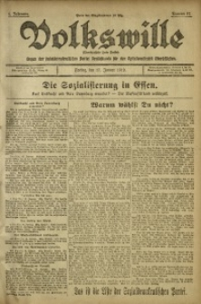 Volkswille, 1919, Jg. 1, Nr. 17