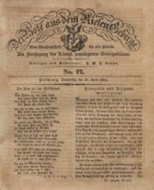 Der Bote aus dem Riesen-Gebirge, 1833, Jg. 21, No. 17