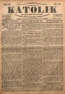 Katolik, 1904, R. 37, nr 47