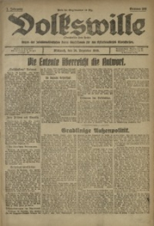 Volkswille, 1919, Jg. 1, Nr. 302