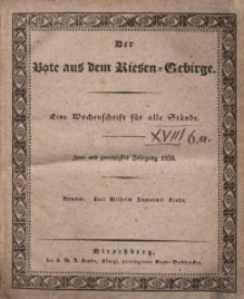 Der Bote aus dem Riesen-Gebirge, 1834, Jg. 22, No. 1