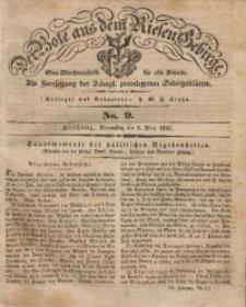 Der Bote aus dem Riesen-Gebirge, 1836, Jg. 24, No. 9
