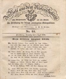 Der Bote aus dem Riesen-Gebirge, 1838, Jg. 26, No. 31