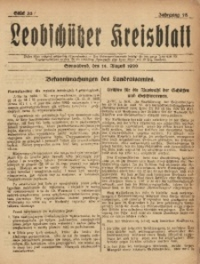 Leobschützer Kreisblatt, 1920, Jg. 78, St. 33
