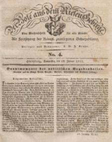 Der Bote aus dem Riesen-Gebirge, 1841, Jg. 29, No. 4