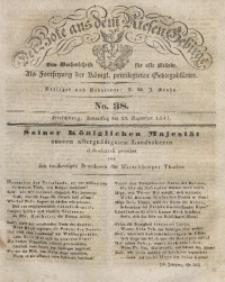 Der Bote aus dem Riesen-Gebirge, 1841, Jg. 29, No. 38
