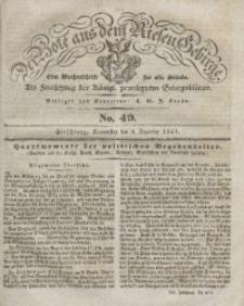 Der Bote aus dem Riesen-Gebirge, 1841, Jg. 29, No. 49