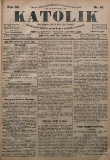Katolik, 1905, R. 38, nr 13