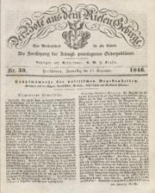Der Bote aus dem Riesen-Gebirge, 1846, Jg. 34, No. 39