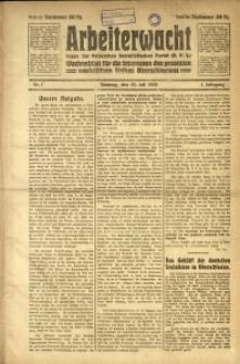 Arbeiterwacht, 1920, Jg. 1, Nr. 1