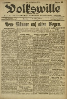 Volkswille, 1920, Jg. 5, Nr. 73