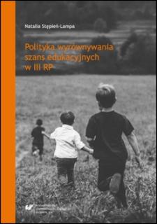 Polityka wyrównywania szans edukacyjnych w III RP