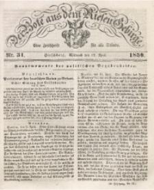 Der Bote aus dem Riesen-Gebirge, 1850 Jg. 38, Nr. 31