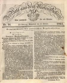 Der Bote aus dem Riesen-Gebirge, 1851 Jg. 39, Nr. 14