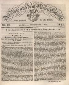 Der Bote aus dem Riesen-Gebirge, 1851 Jg. 39, Nr. 18