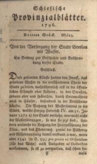 Schlesische Provinzialblätter, 1796, 23. Bd., 3. St.: März