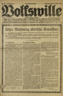 Volkswille, 1921, Jg. 6, Nr. 67