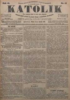 Katolik, 1908, R. 41, nr 12