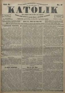 Katolik, 1908, R. 41, nr 17