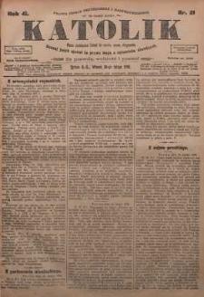 Katolik, 1908, R. 41, nr 21
