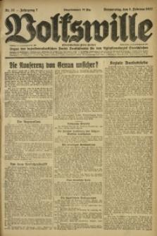 Volkswille, 1922, Jg. 7, Nr. 27
