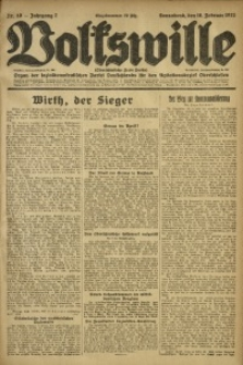 Volkswille, 1922, Jg. 7, Nr. 40
