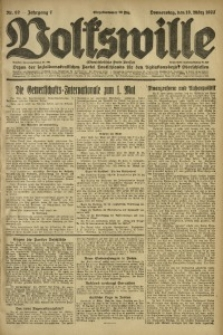 Volkswille, 1922, Jg. 7, Nr. 62