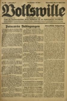Volkswille, 1922, Jg. 7, Nr. 98