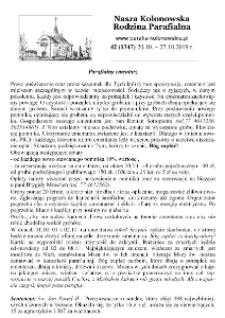 Nasza Kolonowska Rodzina Parafialna 2019, nr 42 (1347).