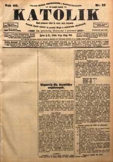 Katolik, 1915, R. 48, nr 19