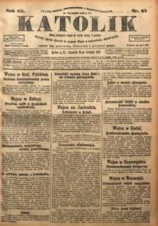 Katolik, 1915, R. 48, nr 45