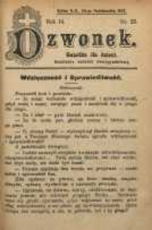 Dzwonek, 1907, R. 14, nr 22