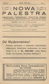 Nowa Palestra, 1936, R. 4, nr 5