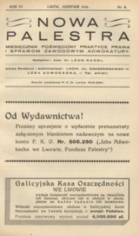 Nowa Palestra, 1936, R. 4, nr 8