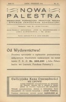 Nowa Palestra, 1936, R. 4, nr 12