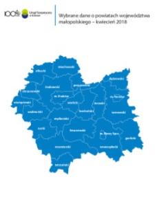 Wybrane dane o powiatach województwa małopolskiego - kwiecień 2018