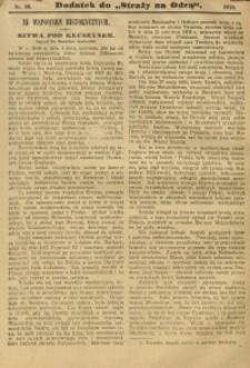 """Dodatek do """"Straży nad Odrą"""", 1910, nr 36"""