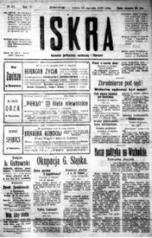 Iskra. Dziennik polityczny, społeczny i literacki, 1920, R. 11, nr 22