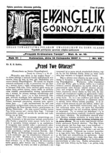 Ewangelik Górnośląski, 1937, R. 6, nr 46