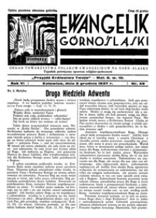 Ewangelik Górnośląski, 1937, R. 6, nr 49