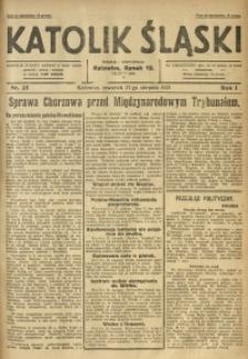 Katolik Śląski, 1925, R. 1, Nr. 25