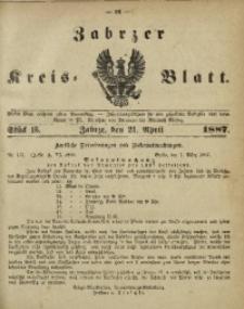 Zabrzer Kreis-Blatt, 1887, St. 16