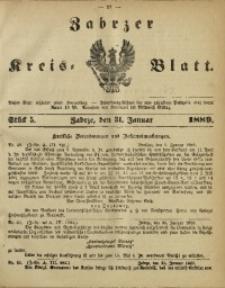 Zabrzer Kreis-Blatt, 1889, St. 5